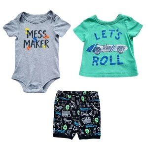 Boys Summer Tops and Shorts Lot 12-18 months